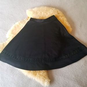 3/$30 Black Skirt with Lace Insert Size Small